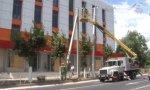 В центре Бендер идет замена линий и опор уличного освещения