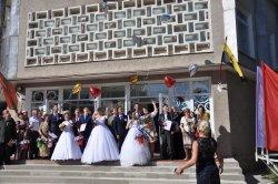 В Бендерах в праздничные дни чествовали молодоженов и юбиляров