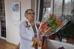 Ветерана ВОВ Лидию Бронникову поздравили с 90-летним юбилеем