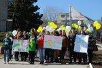 Студенты Бендерского медицинского колледжа провели марш, приуроченный к Всемирному дню борьбы с туберкулезом