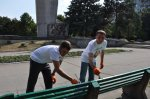 Татьяна Туранская и Николай Глига приняли участие в республиканском субботнике на набережной Бендер