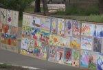 В Международный День музеев один из тротуаров города Бендеры превратился в арт-зону