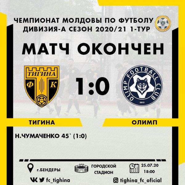 Тигина обыграла ФК Олимп со счетом 1:0 (добавлено видео сюжета)