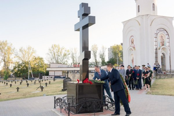 Президент принял участие в праздновании дня формирования 55-го Подольского полка