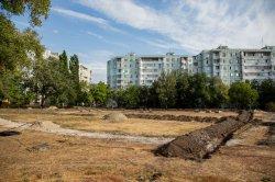 В микрорайоне Борисовка ведется строительство нового сквера