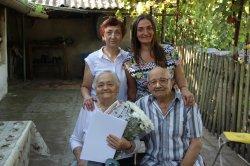 Супружескую чету бендерчан поздравили с 60-летием со дня бракосочетания