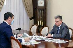 Роман Иванченко проинформировал Президента о планах благоустройства города