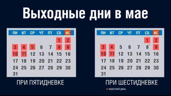 В Министерстве по социальной защите и труду рассказали, в какие дни будут отдыхать приднестровцы на майские праздники
