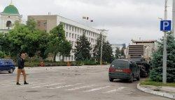 На Площади Освобождения оборудовали временную парковку